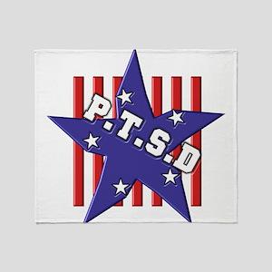 P.T.S.D. RWB Throw Blanket