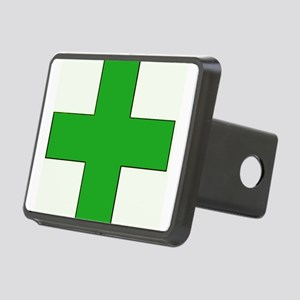 Green Medical Cross Hitch Cover