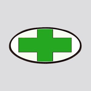 Green Medical Cross Patches