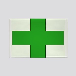 Green Medical Cross Magnets