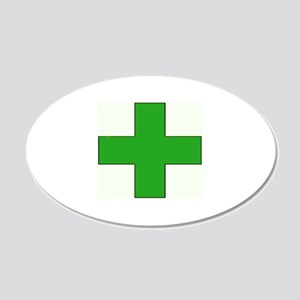Green Medical Cross Wall Decal