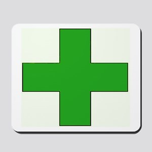 Green Medical Cross Mousepad