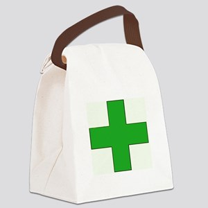 Green Medical Cross Canvas Lunch Bag