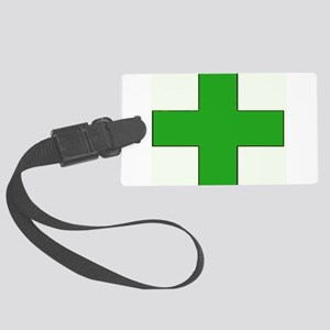 Green Medical Cross Luggage Tag
