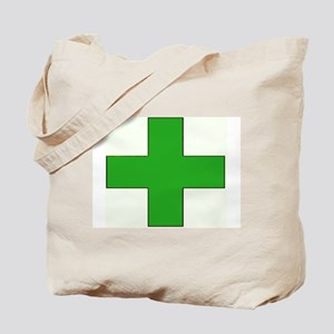 Green Medical Cross Tote Bag