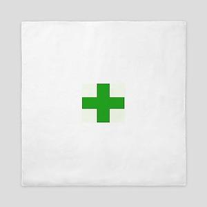 Green Medical Cross Queen Duvet