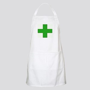 Green Medical Cross Apron
