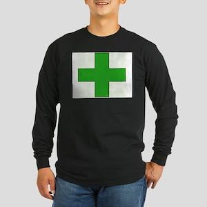 Green Medical Cross Long Sleeve T-Shirt