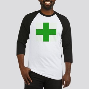 Green Medical Cross Baseball Jersey