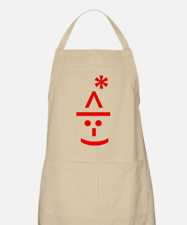 Christmas Elf Emoticon Smiley Apron