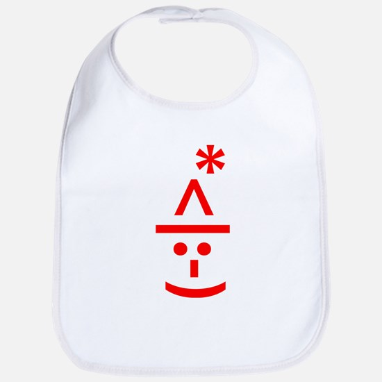 Christmas Elf Emoticon Smiley Bib