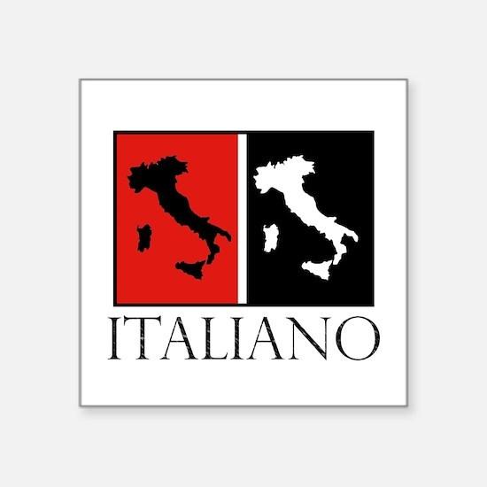 Italiano: Red Black Sticker