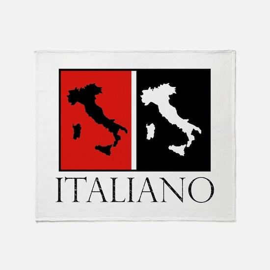Italiano: Red Black Throw Blanket