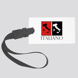 Italiano: Red Black Luggage Tag