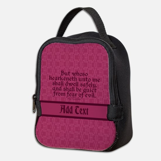 Proverbs 1 33 The Word rose Neoprene Lunch Bag