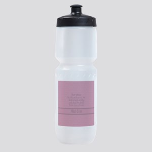 Proverbs 1 33 The Word rose Sports Bottle