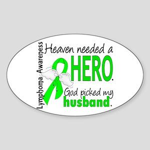 Lymphoma HeavenNeededHero1 Sticker (Oval)