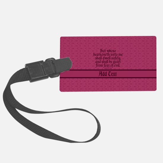 Proverbs 1 33 The Word rose Luggage Tag