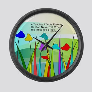 Teacher quote Blanket Large Wall Clock