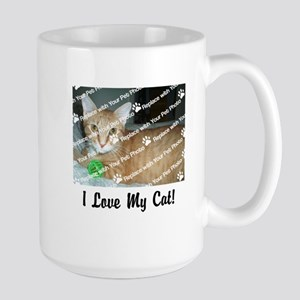 Customize Add Photo Love Cat (center) Mugs