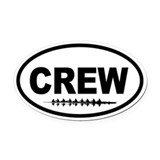 Rowing crew Oval Car Magnets