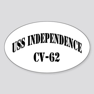 USS INDEPENDENCE Sticker (Oval)