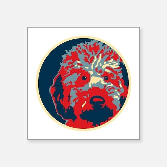 """Unique Obama dog Square Sticker 3"""" x 3"""""""