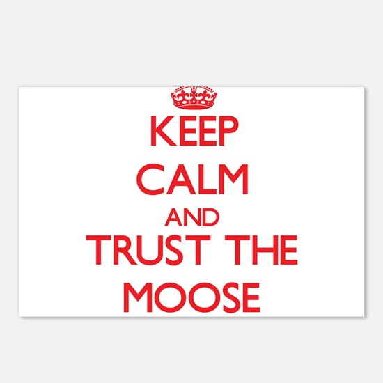 Keep calm and Trust the Moose Postcards (Package o