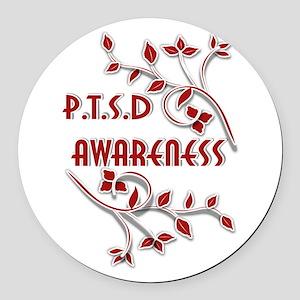 P.T.S.D. AWARENESS Round Car Magnet