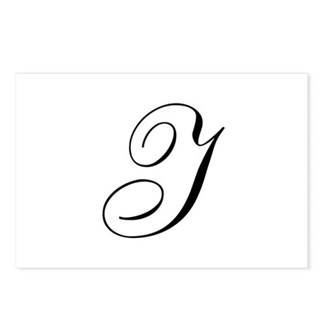 I Initial in Black Script Postcards (Package of 8)