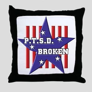 P.T.S.D. BROKEN Throw Pillow