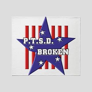 P.T.S.D. BROKEN Throw Blanket