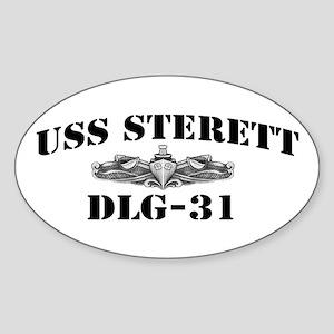 USS STERETT Sticker (Oval)