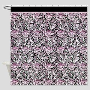 Art Nouveau Damask Flower Dusty Pink sc Shower Cur