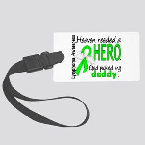 Lymphoma HeavenNeededHero1 Large Luggage Tag