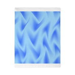 Blue on Blue Waves Twin Duvet
