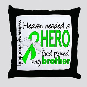 Lymphoma HeavenNeededHero1 Throw Pillow