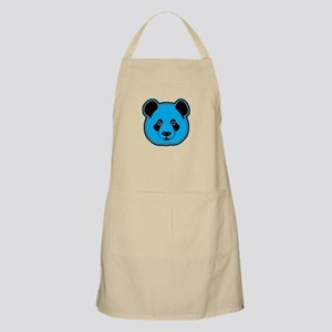 panda head blue 01 Apron