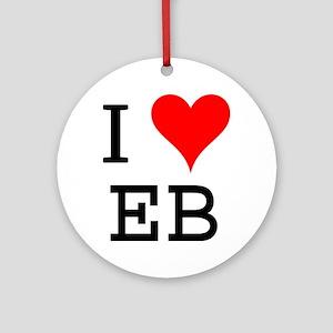 I Love EB Ornament (Round)