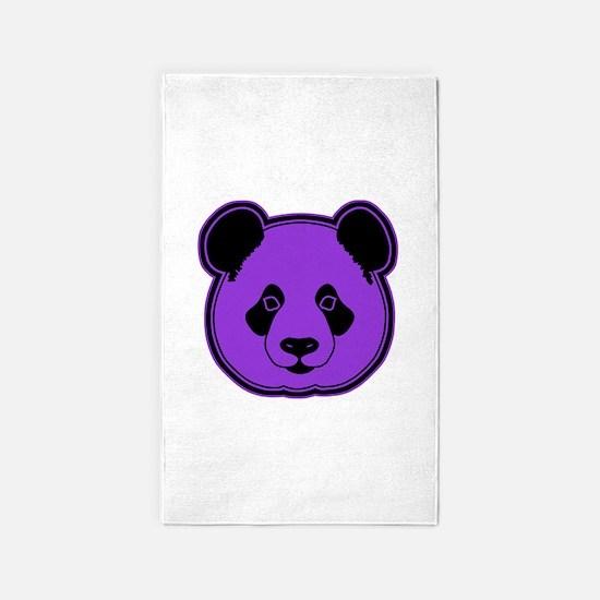 panda head purple 02 3'x5' Area Rug