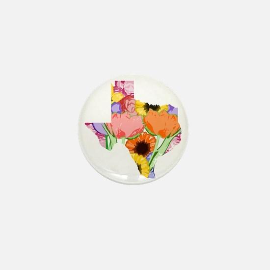 Floral Texas Mini Button