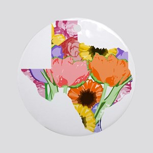 Floral Texas Round Ornament