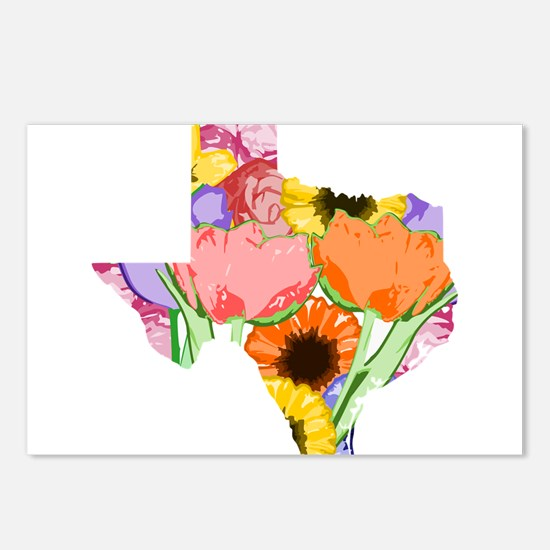 Floral Texas Postcards (Package of 8)
