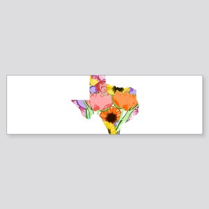 Floral Texas Bumper Sticker