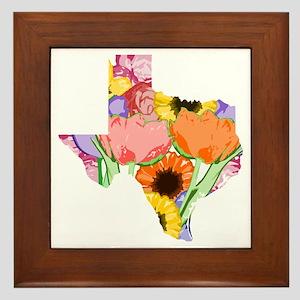 Floral Texas Framed Tile