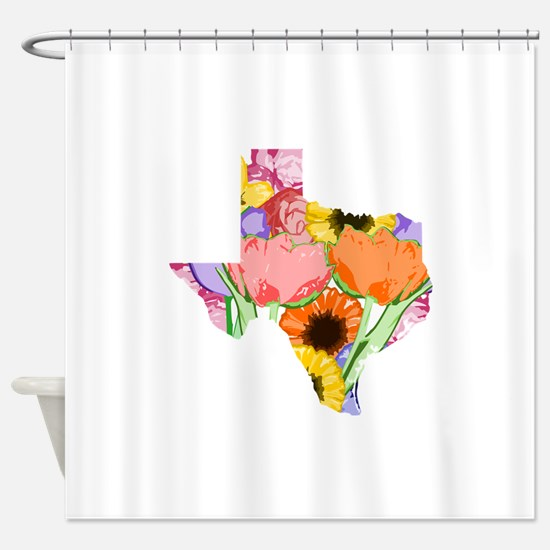 Floral Texas Shower Curtain