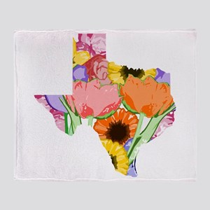 Floral Texas Throw Blanket