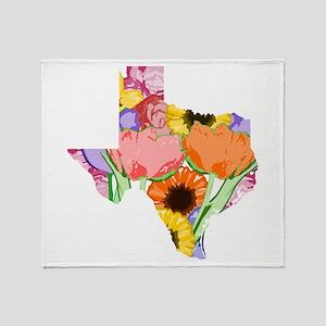 Floral Texas Throw Blanket