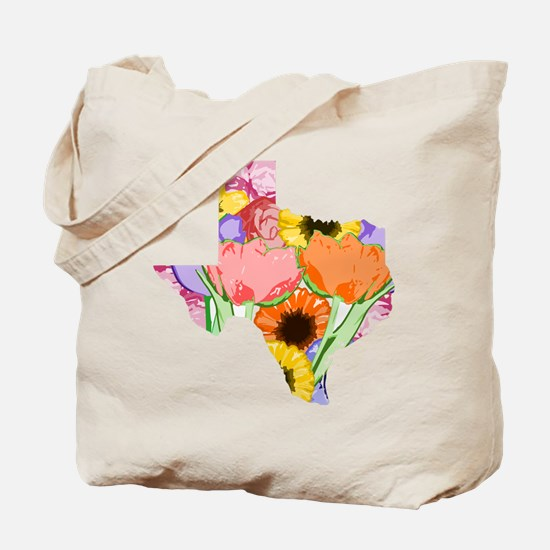 Floral Texas Tote Bag