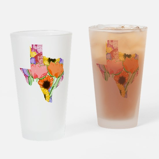 Floral Texas Drinking Glass
